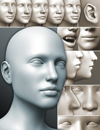 200 Plus Head & Face Morphs for Genesis 3 Female