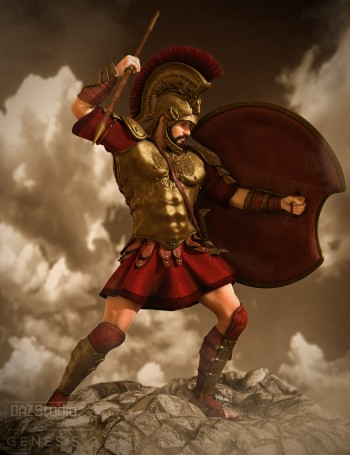 Mec4D Hoplite Soldier for Genesis 2 Male