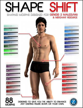 Shape Shift for Genesis 2 Male(s)/M6